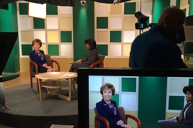 USF President Judy Genshaft talks to host Denise White on the premiere episode of the half hour weekly program, University Beat on WUSF TV.