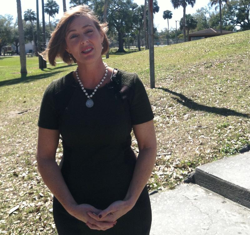 Tampa Congresswoman Kathy Castor speaks on Cuba at Tampa's MacFarlane Park