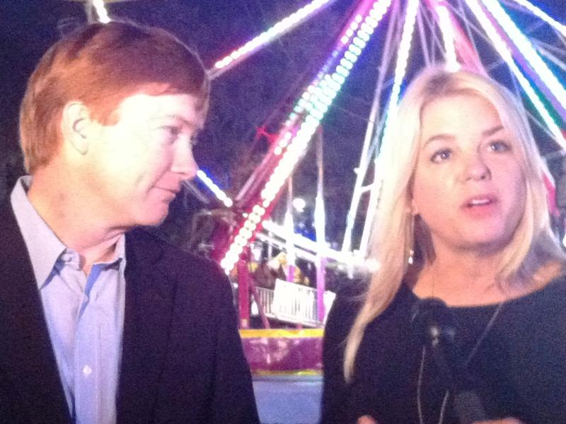 Florida Agriculture Commissioner Adam Putnam and Attorney General Pam Bondi share the limelight at the opening of the Florida State Fair.