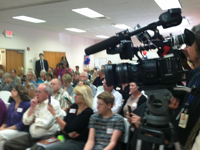 About 100 friends and family packed the community center along with local media to witness the award ceremony.