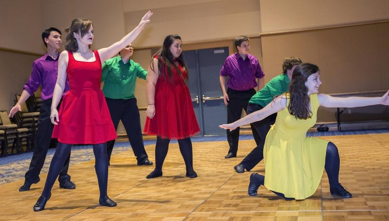 """Students from Lawton Chiles High School in Tallahassee perform selection from """"Pippin."""""""