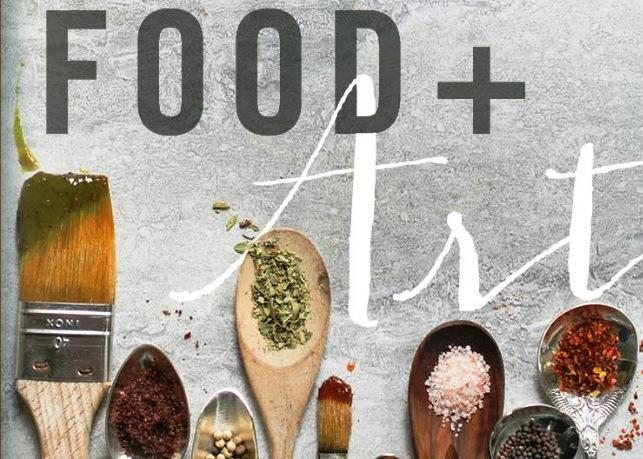 Cover of the Museum of Fine Arts 50th anniversary cookbook, Food + Art, produced by The Stuart Society.