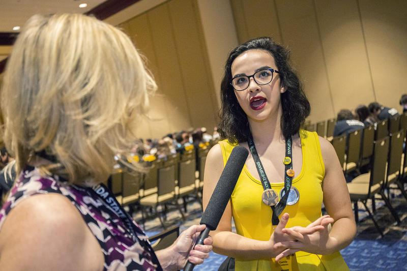 Camila Calderone of Lawton Chiles High talks to WUSF's Cathy Carter.