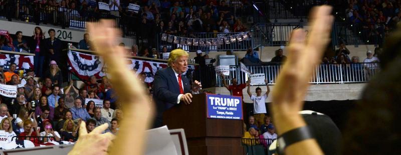 Donald Trump at the USF Sun Dome Feb. 12