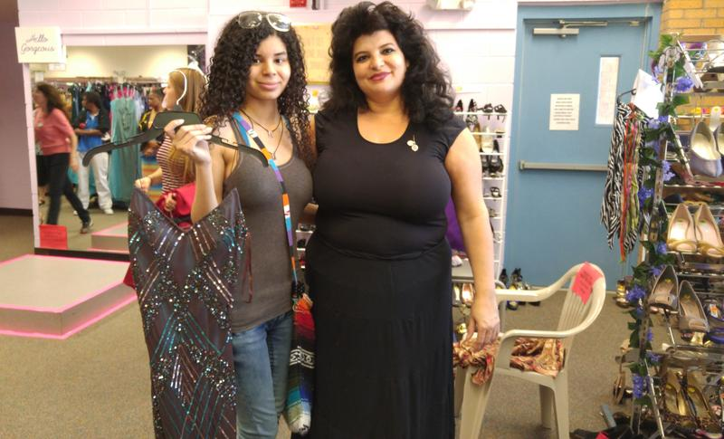 Elissia LaPorte and her mother Lena LaPorte enjoy a shopping day at Belle of the Ball
