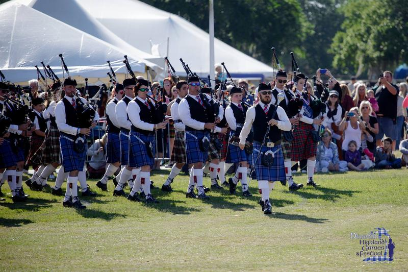 Pipe bands from around the country will compete.