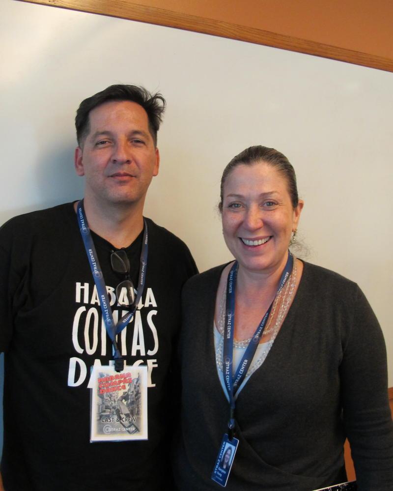 Javier Burgos and Georgiana Young of the Straz Center