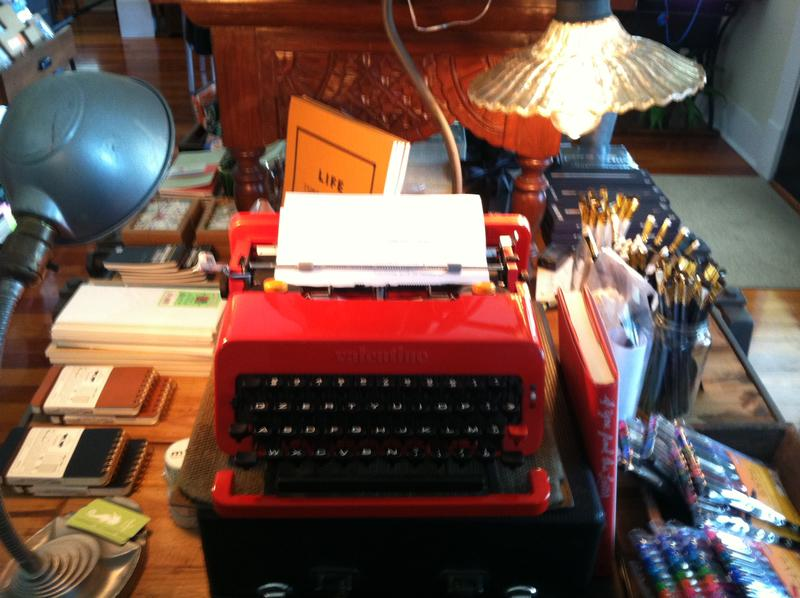 One of more than a dozen typewriters on display and ready for writers at the Paper Seahorse.