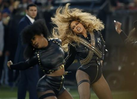 Beyonce performs in January during halftime of the NFL Super Bowl 50 football game in Santa Clara, Calif.