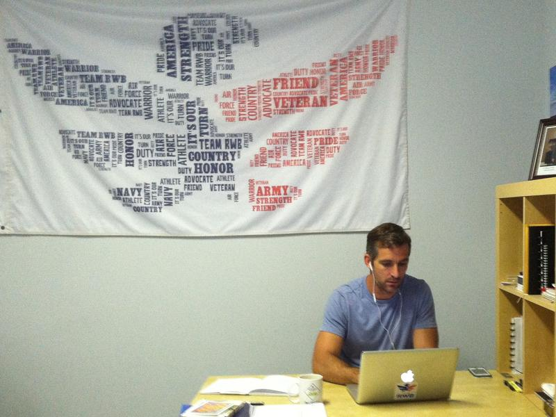 Team RWB executive director Blayne Smith at work inside their Tampa headquarters.