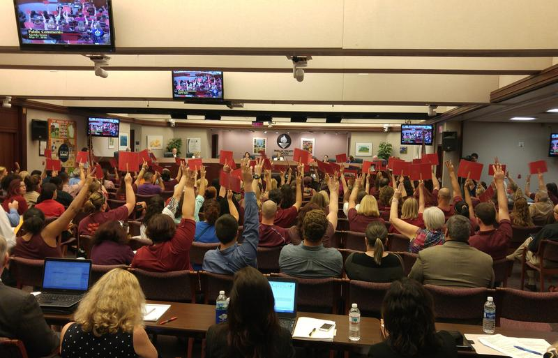 The Pinellas County School Board heard testimony for more than two hours.