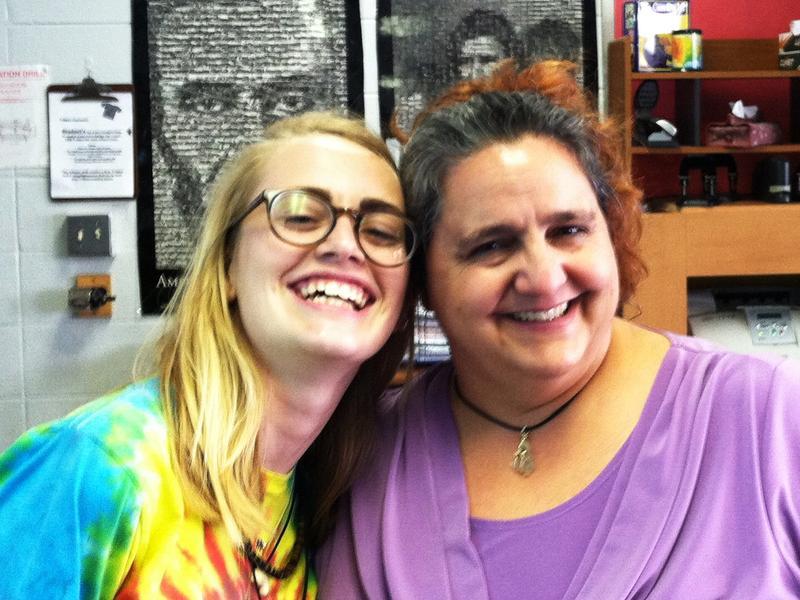 Largo High junior Konner Ross, 16, and her history teacher, Deborah Pettingill.
