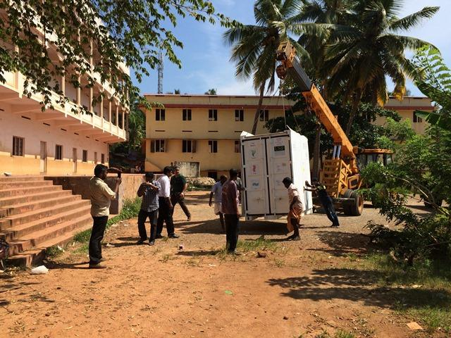 The NEWgenerator was installed outside the school in India earlier this year.