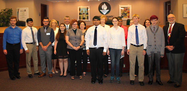 Student developers from the Center for Advanced Technologies at Lakewood High School in St. Petersburg were honored at a recent school board meeting.