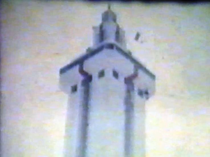The Citrus Tower in Clermont was one of the Florida attractions families could visit in 1969. This image comes from a home movie from WUSF's Mary Shedden.