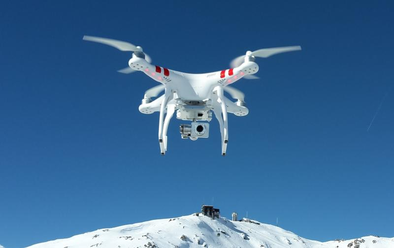 A recreational and commercial drone called the DJI Phantom.