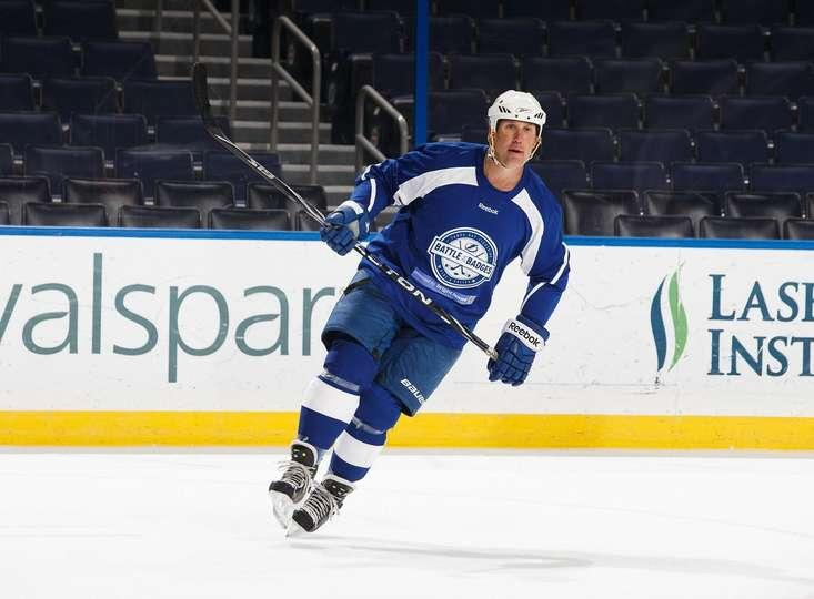 Dave Andreychuk skates during the Battle of the Badges game during Hockey Day in Tampa Bay.