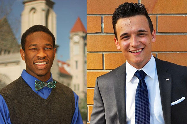 Recent USF graduates Victor Sims (left) and Frank Cirillo are both running for political office this year.