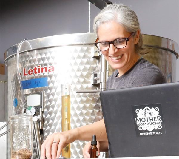 Donati says the Kombucha brewing process takes a week to 10 days.