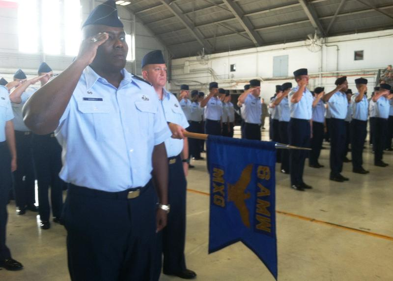 A change of command ceremony at MacDill AFB in 2016.