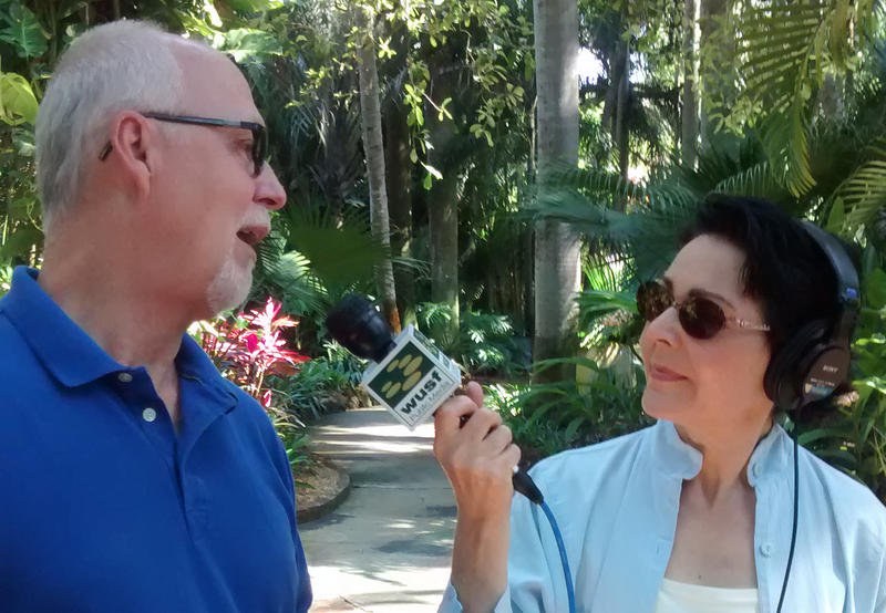 WUSF's Lisa Peakes speaking with Sunken Gardens supervisor Bill O'Grady