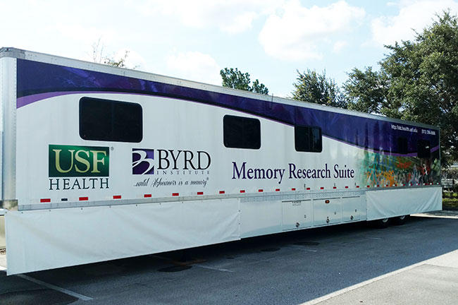 USF Health Byrd Alzheimer's Institute's new mobile Memory Research Suite was unveiled in June 2016.