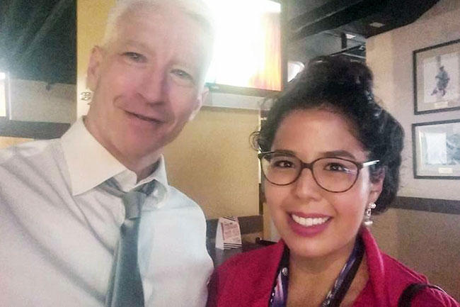 Ramírez and CNN host Anderson Cooper.