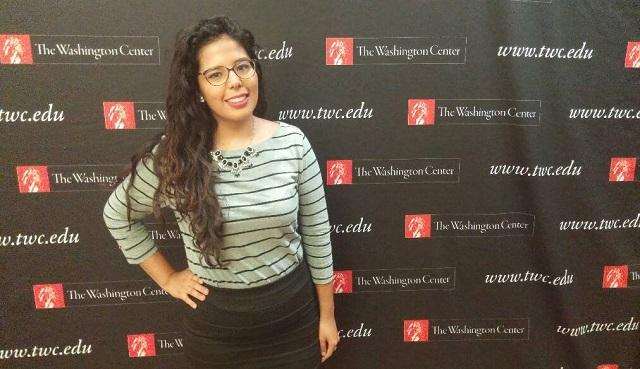 Ramírez was one of a hundred students from around the country taking part in the Washington Center for Internships and Academic Seminars' Republican National Convention event.