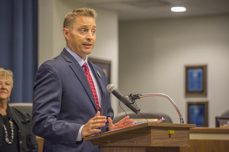 "Jeff Eakins, the Hillsborough County Public Schools Superintendent, addressed cuts at his ""State of the District"" presentation Wednesday."
