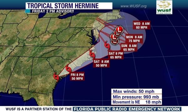 Hermine Closes Schools Government Offices Roads Wusf News
