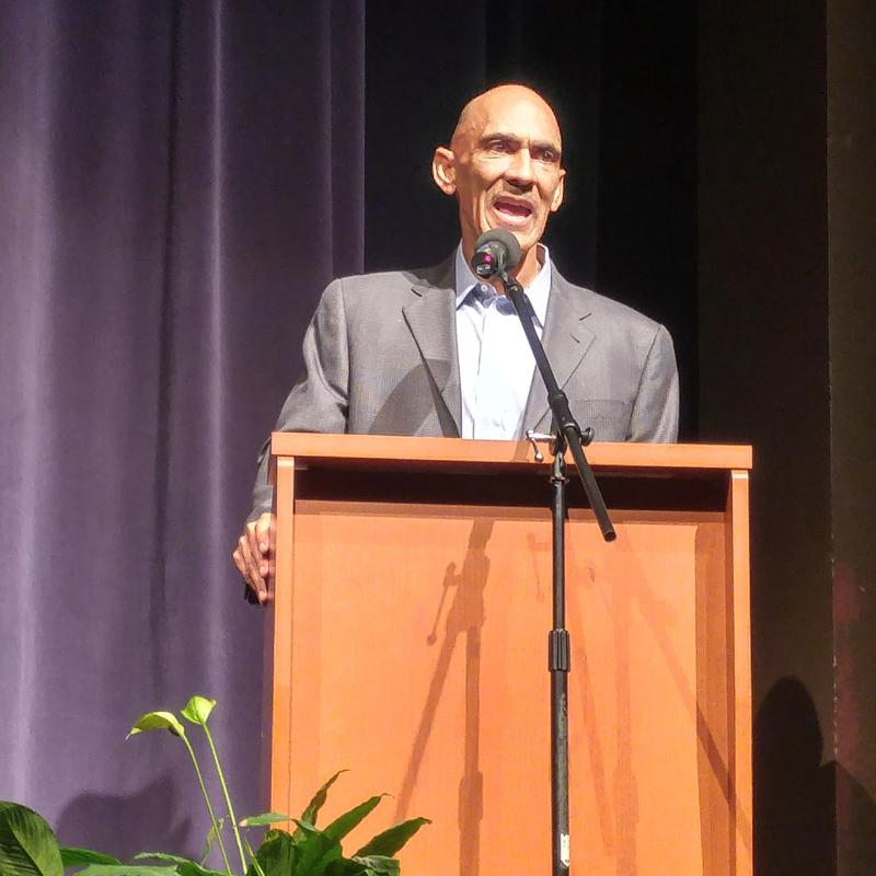 """Dungy is a spokesman for """"All Pro Dad"""", a national fatherhood organization."""