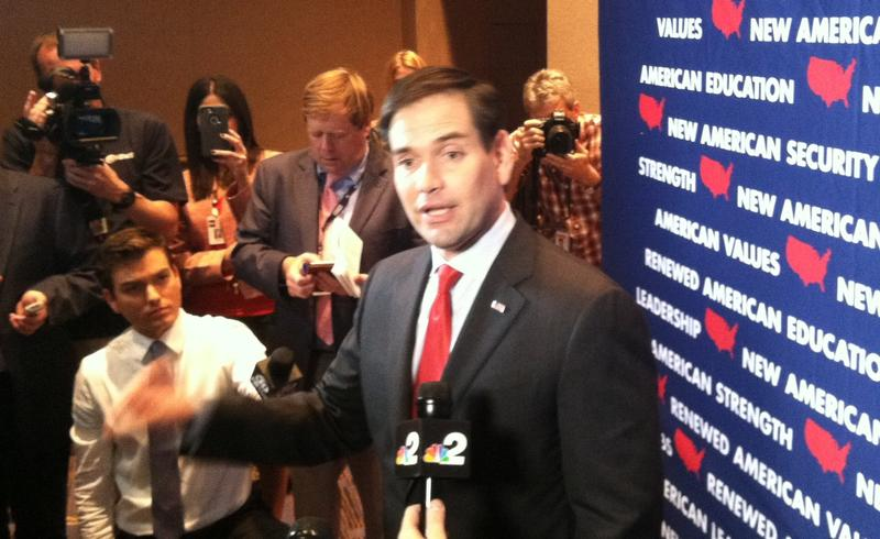 Marco Rubio campaigns for the presidency in Tampa in March