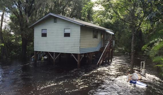 Flooding affected residents along the Florida gulf coast, including the Anclote River, after Hurricane Hermine passed through the state a few weeks ago.
