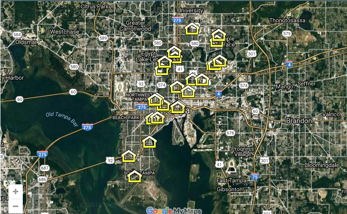 Tampa Housing Authority Property Map.