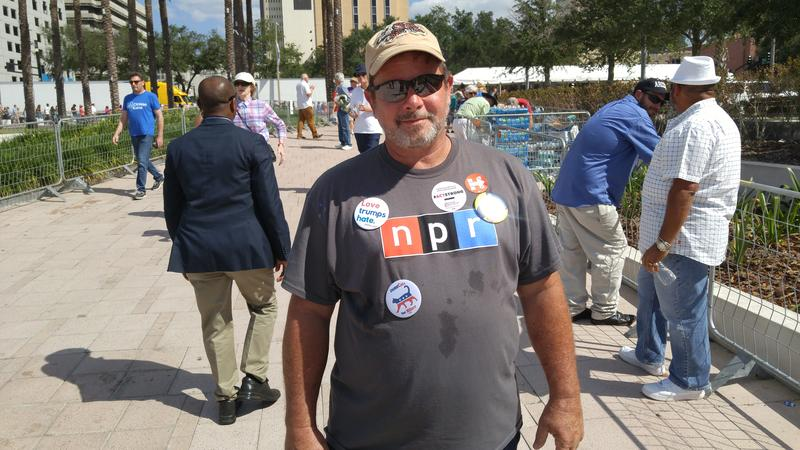 Jeff Pruett of Seminole Heights has already cast his ballot for Clinton in early voting