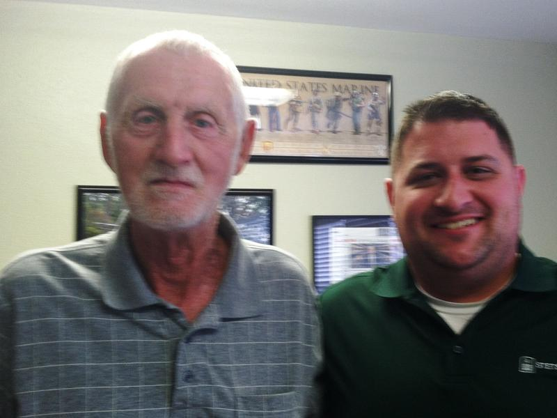 Veteran James Clarke with Stetson Law student Chris Covell - one of several students who helped appeal Clarke's denied disability claim.