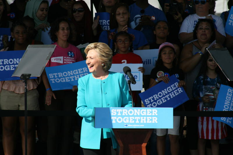 Hillary Clinton spoke at Curtis Hixon Park in Tampa