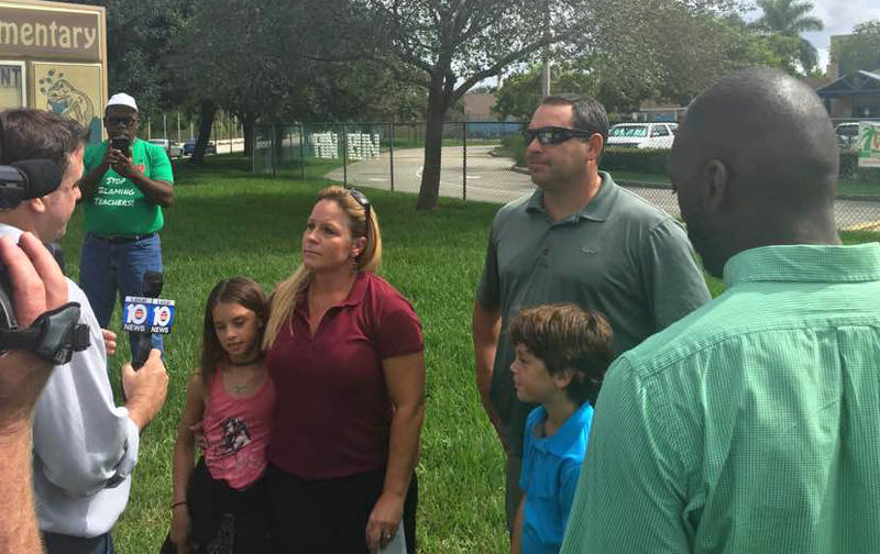 Brandy Paternoster of Broward County was one of the plaintiffs in the opt-out lawsuit. The district has since dropped its appeal, and her twins are now fourth graders at Manatee Elementary School in Weston.