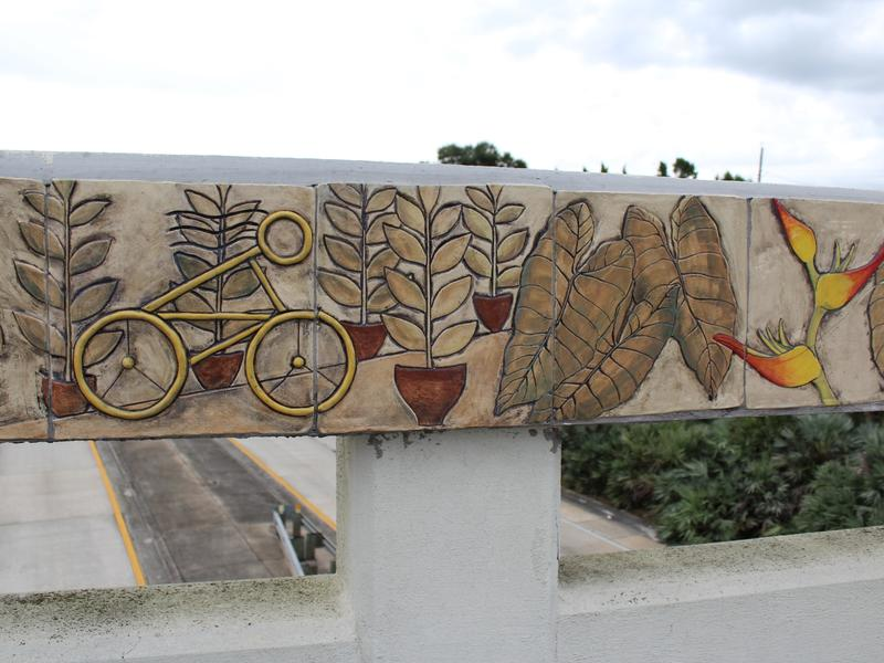Ceramic murals in downtown Lakeland