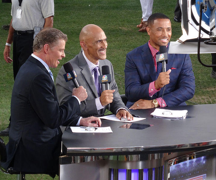 "Tony Dungy work as an analyst for ""NBC's Football Night in America."""