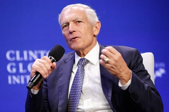 Retired U.S. Army General Wesley Clark, seen here speaking at the Clinton Global Initiative 2015, will speak at USF Wednesday night.