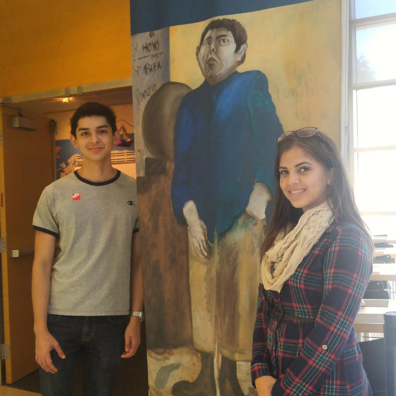 "Erick Castro and Maria Fleitas of Tampa's Leto High School toured the ""Our America"" exhibit in St. Pete."