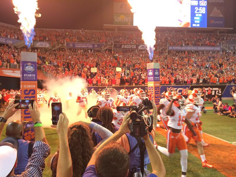 Clemson takes the field during the ACC Championship in Orlando earlier this month.