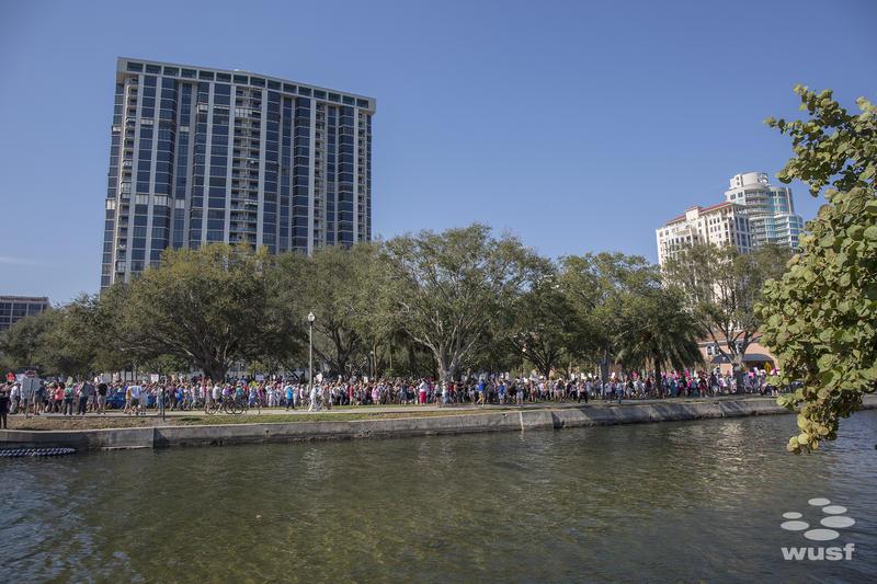 Marchers walked from Demen's landing along St. Petersburg's waterfront.