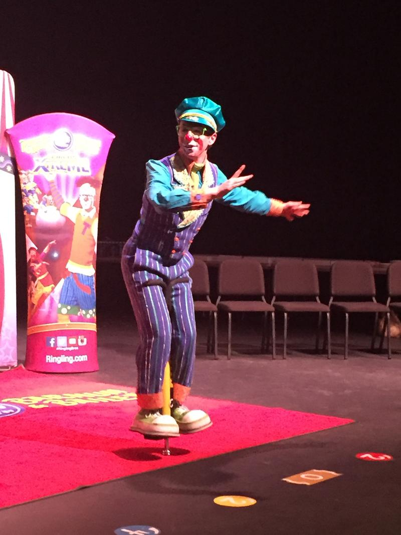 "Matthew Lish's father started teaching him ""clowning"" when he was 3 years old. He's just a few weeks into his new gig with Circus Xtreme."