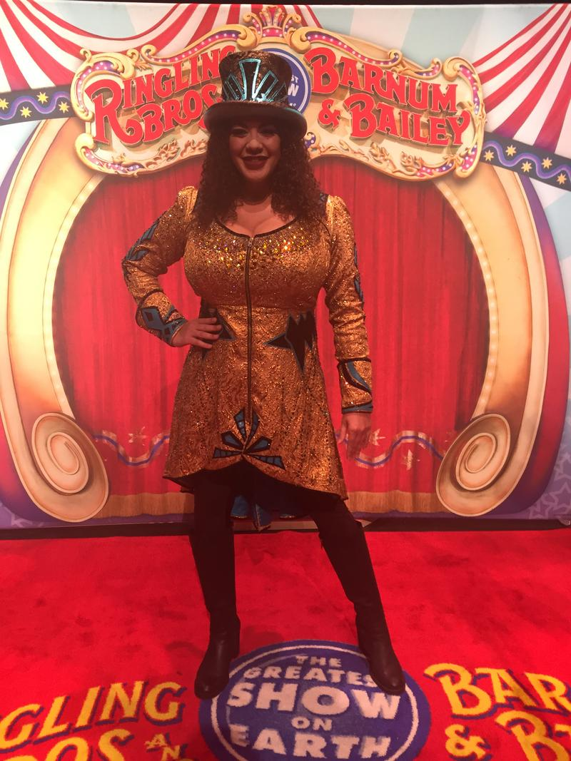 "Kristen Michelle Wilson is the first female ringmaster in Ringling's 146-year history. She says getting to say, ""Ladies and gentlemen, children of all ages, welcome to the Greatest Show on Earth!"" has been the biggest thrill of her life."