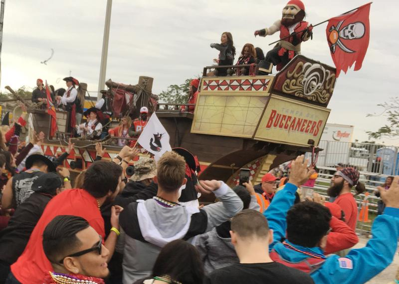 A different kind of pirate, the Tampa Bay Buccaneers football team.