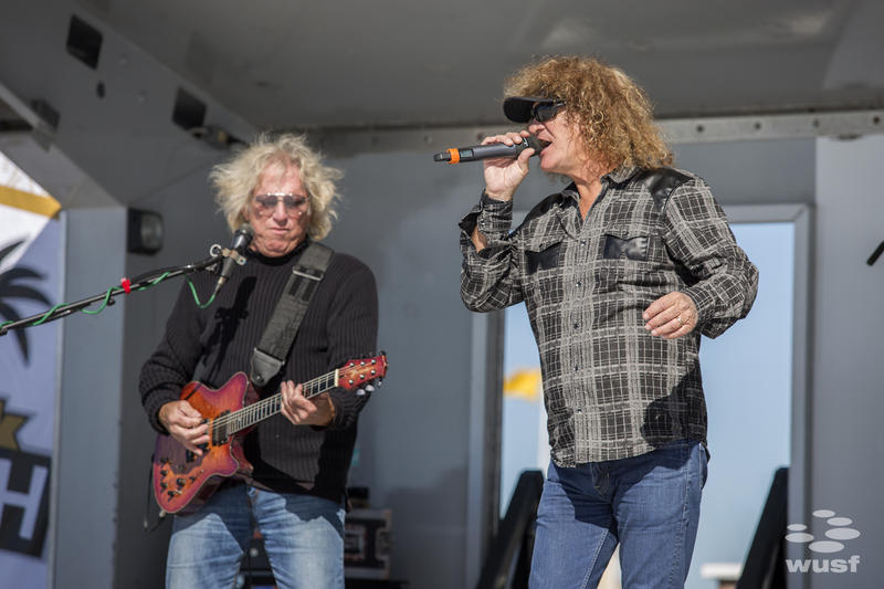 Local band Stormbringer played covers of favorite rock songs at the Clearwater Beach Bash.