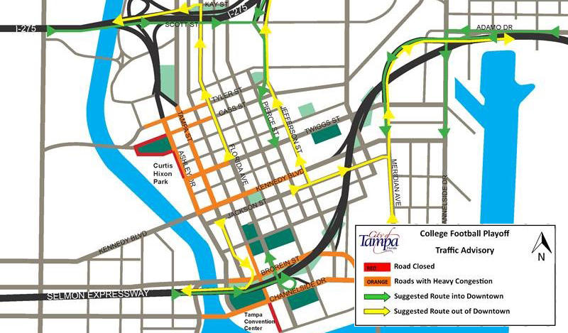 Navigating Downtown Tampa During National Championship Festivities