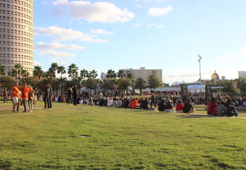 After a rainy morning, the sun came out in full force at Curtis Hixon Park Saturday.